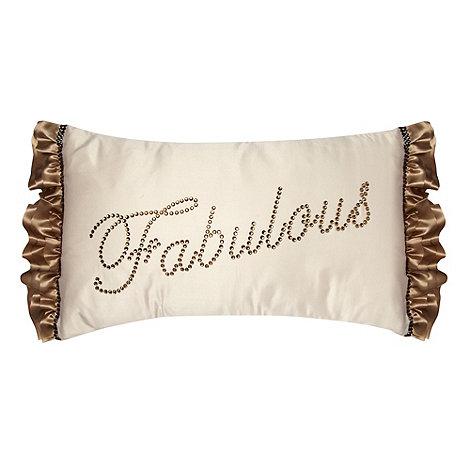 Star by Julien Macdonald - Cream +Fabulous+ sateen cushion