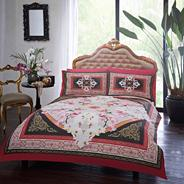 Red 'Priscilla' bed linen