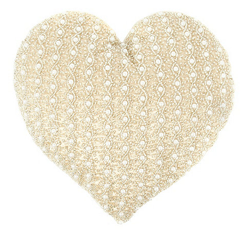 Star by Julien Macdonald - Pale pink embellished heart cushion