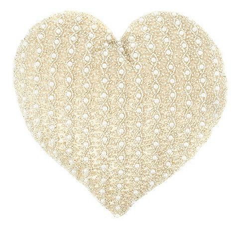 Star by Julien Macdonald - Pale pink embellished heart cushion