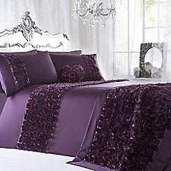Star by Julien Macdonald - Purple 'Antoinette' duvet cover