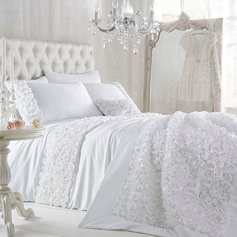 Star by Julien Macdonald - White +Antoinette+ bed linen
