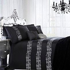 Star by Julien MacDonald - Black 'Quill' bed linen