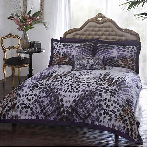 Star by Julien Macdonald - Designer purple feather animal bed linen