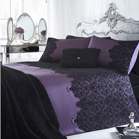 Star by Julien Macdonald - Julien MacDonald purple +Chantelle+ bed linen