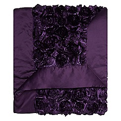 Star by Julien Macdonald - Designer purple satin floral runner