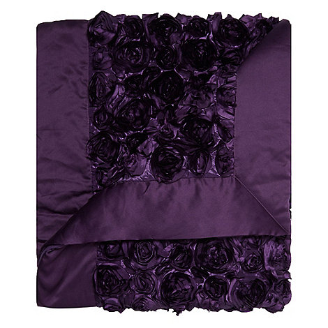 Star by Julien Macdonald - Purple 'Antoinette' bed runner