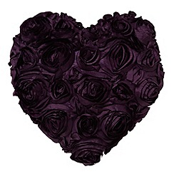 Star by Julien MacDonald - Designer purple floral heart cushion