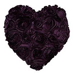 Star by Julien Macdonald - Designer purple floral heart cushion
