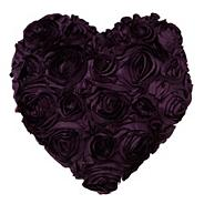 Designer purple floral heart cushion