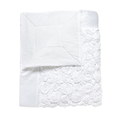 Star by Julien Macdonald - Designer white rose bed runner