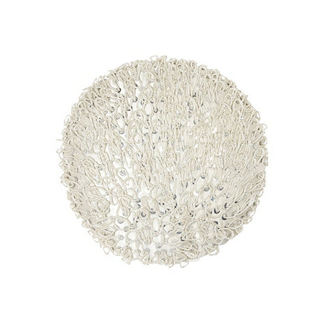 Star by Julien Macdonald - Designer silver beaded loop cushion