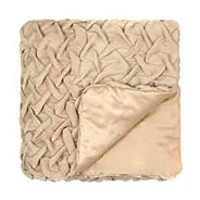 Designer gold rouched throw