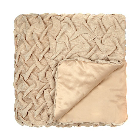 Star by Julien Macdonald - Designer gold rouched throw