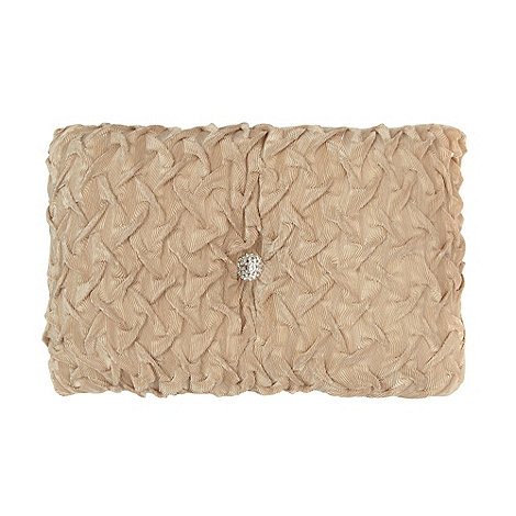 Star by Julien Macdonald - Designer gold rouched cushion