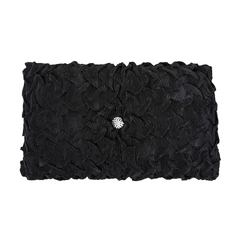Star by Julien Macdonald - Designer black rouched satin cushion