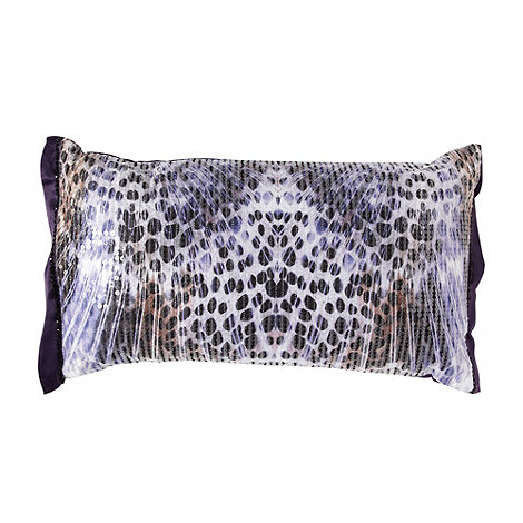 Star by Julien Macdonald - Designer purple feather animal cushion