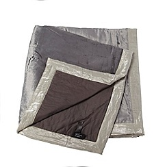 Betty Jackson.Black - Grey metallic velvet bed runner