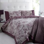 Purple 'Luciana' floral bed linen