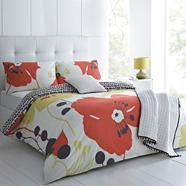 Red 'Bella' bed linen