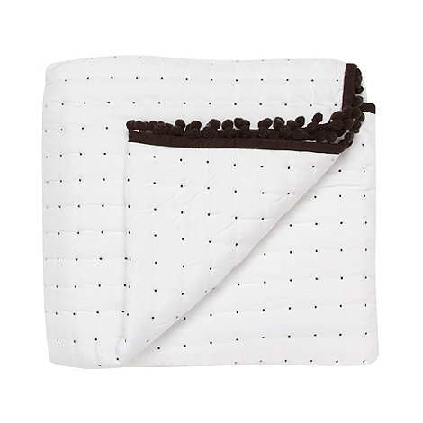 Betty Jackson.Black - Designer white spotted throw
