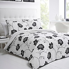 Betty Jackson.Black - Designer black 'chiswick' bed linen