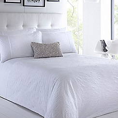 Betty Jackson.Black - Designer white 'Tamsin' bed linen