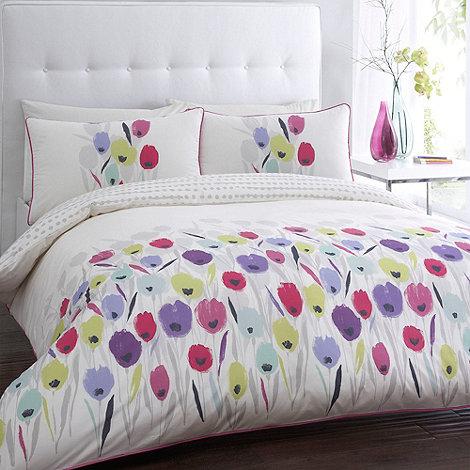Betty Jackson.Black - Designer ivory +Tulips+ bed linen
