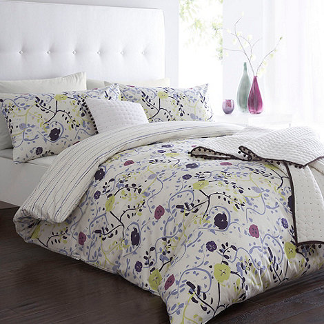 Betty Jackson.Black - Designer white +Bramble+ bed linen