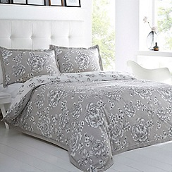 Betty Jackson.Black - Designer silver 'Beatrice' cotton sateen bed linen