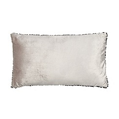 Betty Jackson.Black - Designer silver velvet trim cushion