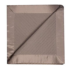 Betty Jackson.Black - Designer grey quilted throw