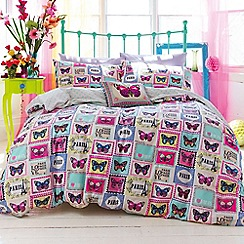 Accessorize - Pink 'Butterfly stamp' bedding set