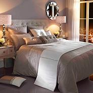 Kylie Minogue Silver 'Ria' bed linen