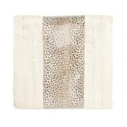 Cream leopard spotted bed runner