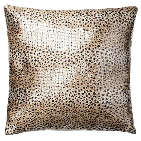 Kylie Minogue at home - Kylie Minogue Gold +Leopard+ Cushion