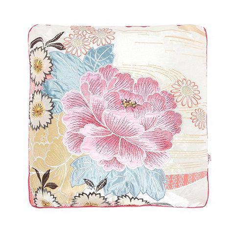 Accessorize - White +Oriental Flower+ cushion