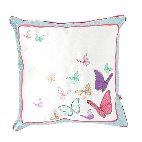 Accessorize - Blue 'Scattered Butterflies' cushion