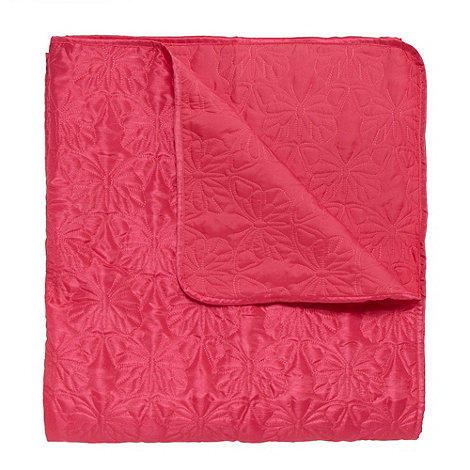 Accessorize - Pink butterfly stitched quilt