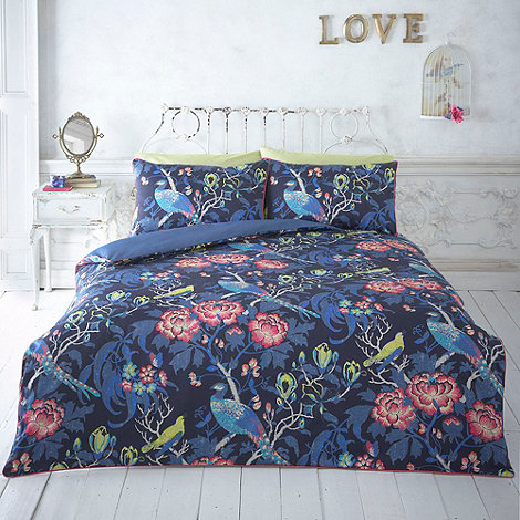 Butterfly Home by Matthew Williamson - Dark blue +Magnolia Peacock+ bedding set