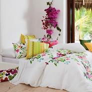 White 'Chintz' bed linen