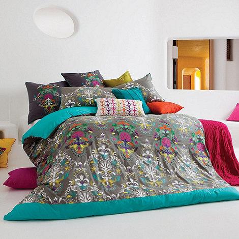 Kas - Dark green +Mimosa+ bed linen