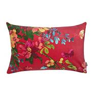 Pink 'Chintz' floral velvet cushion
