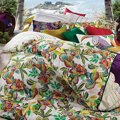 Kas - White +Viridian+ bed linen