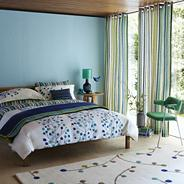 Blue berry tree bed linen