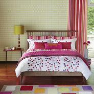 Pink berry tree bed linen