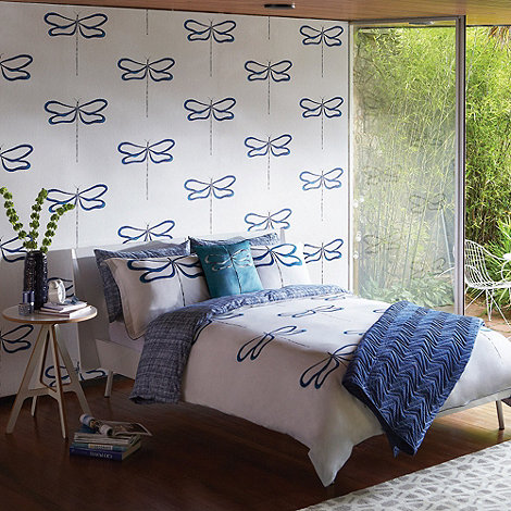 Scion - Blue dragonfly bed linen