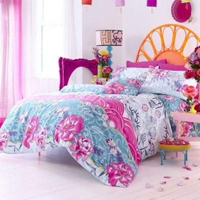 Accessorize Blue ´Oriental Fans´ bedding set - . -