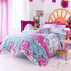Accessorize - Blue 'Oriental Fans' bedding set