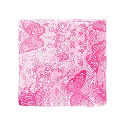 Accessorize - Pink 'Kimono Butterfly' printed throw